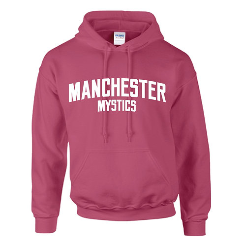 Manchester Mystics Heliconia Pink Hoody - White print