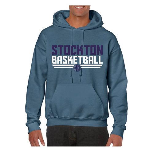 Stockton Basketball Indigo Blue Hoody design 3