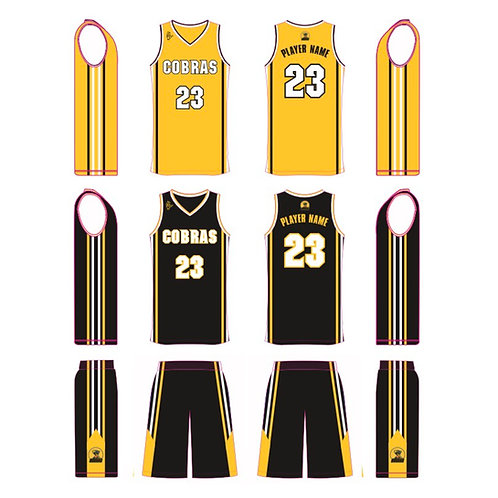 Churchill Cobras Black kit with separate Yellow vest