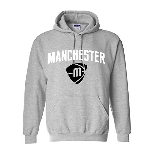 Manchester Magic & Mystics Text and Logo Sport Grey Hoody - White & Black