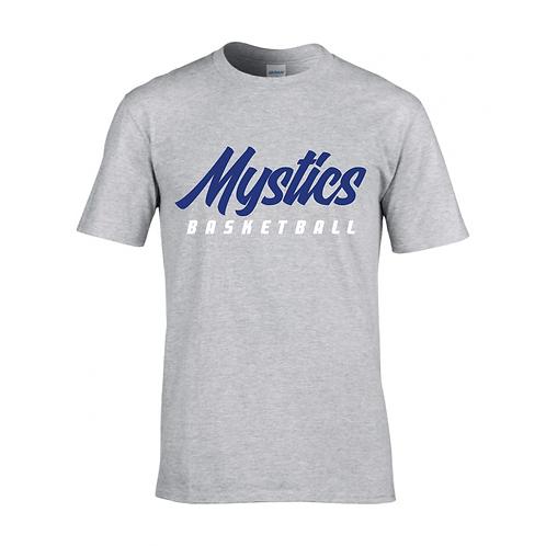 Manchester Mystics Basketball Sport Grey T-shirt - Royal Blue & White