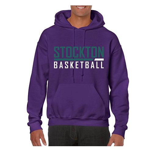 Stockton Basketball Purple Hoody design 5