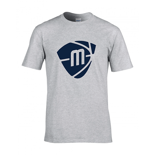 Manchester Magic & Mystics Sport Grey Logo T-shirt - Navy Blue print