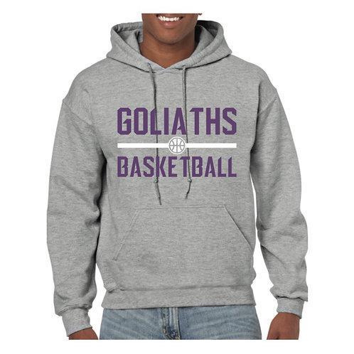 Gosforth Goliaths Grey Hoody design 3