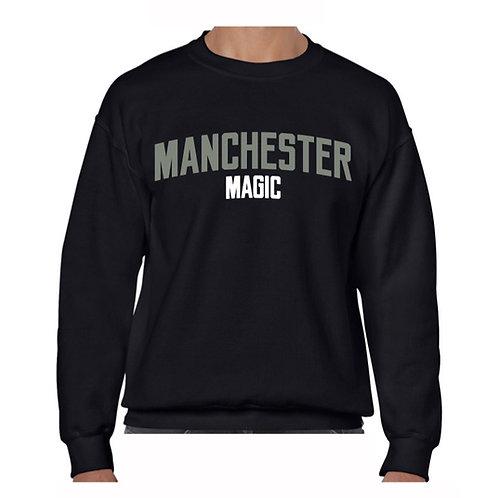 Manchester Magic Black Crew - Grey & Whit