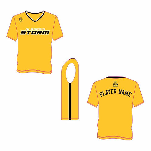 Glasgow Storm Yellow Short Sleeve Shooting Shirt