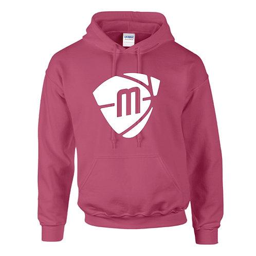 Manchester Magic & Mystics White Logo Heliconia Pink Hoody