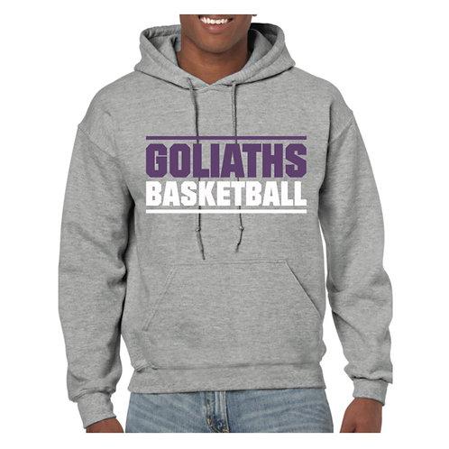 Gosforth Goliaths Grey Hoody design 1