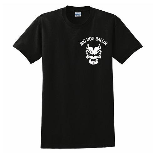 Big Dog Ballin Black small logo T-shirt