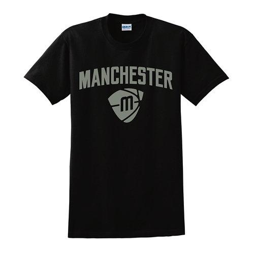 Manchester Magic & Mystics Text and Logo Black T-shirt