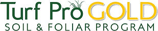 Turf Pro Gold logo with grass tufts - tr