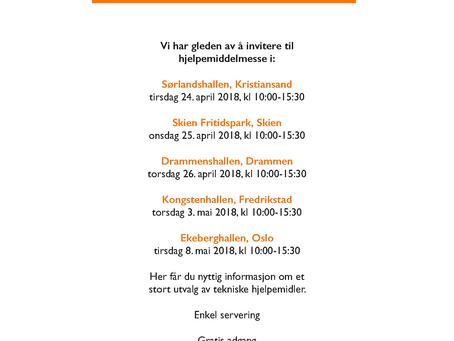 Møt oss på Hjelpemiddelmessen Sør/Øst 2018!