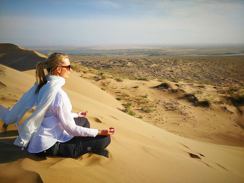 Meditation in the desert.