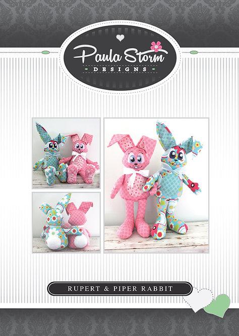 PDF Download - Rupert & Piper Bunny Rabbit Softie