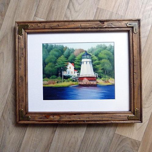 """""""Doubling Point Light"""", framed 11x14"""""""