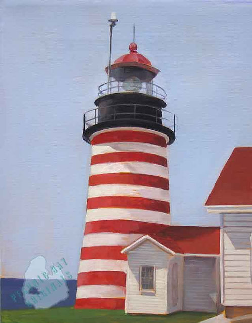 S88 Red Striped Lighthouse
