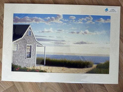 "Sunrise, 16 x 24"" matted print"