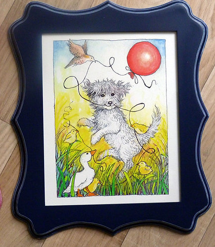 "Dancing Molly, 8x10"" framed"
