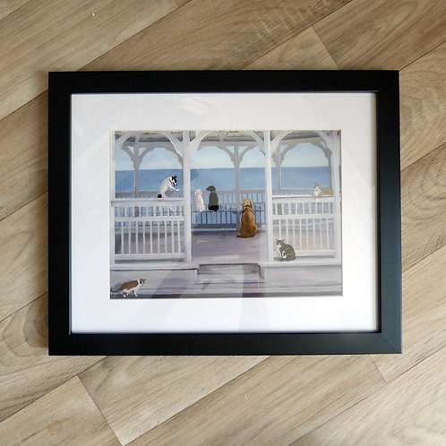 Gazebo Tails, 11x14 framed black