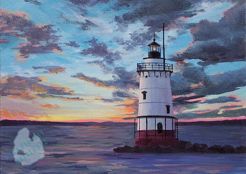 S34 Evening Lighthouse