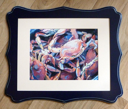"""Red Hot Blues, 11x14"""" framed"""
