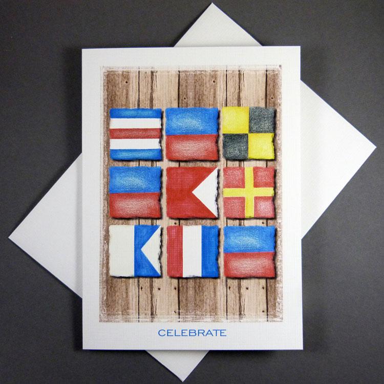 Nautical Flag Alphabet Cards