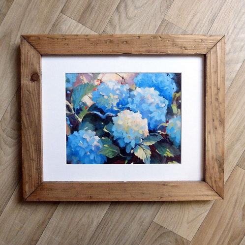 """""""Blue Beauties"""", framed 11x14"""""""