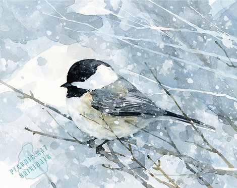 H27 Chickadee in the Snow