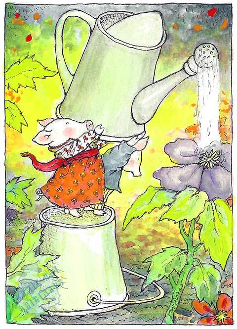 A05 Pigs Gardening