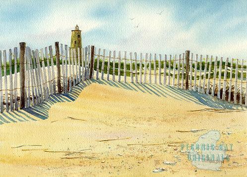 P27 Dune Fence Shadows