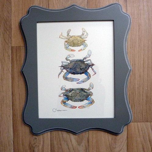 """Crab Stack, 8x10"""" framed"""