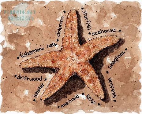 V01 Beached Starfish