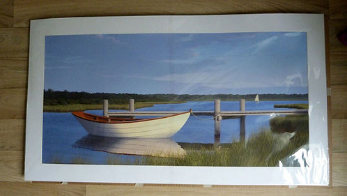 """The Dory, 20 x 36"""" matted print"""