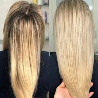реконструкция Hahonico для блондированных волос