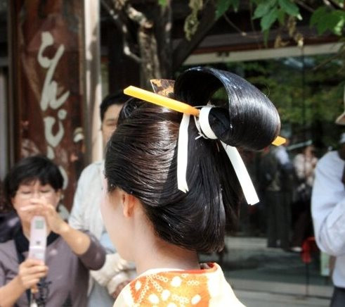 прически Японии 17 века