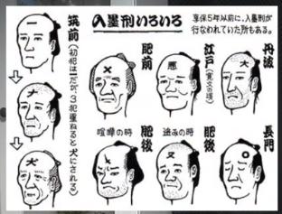 тату на лице японских преступников
