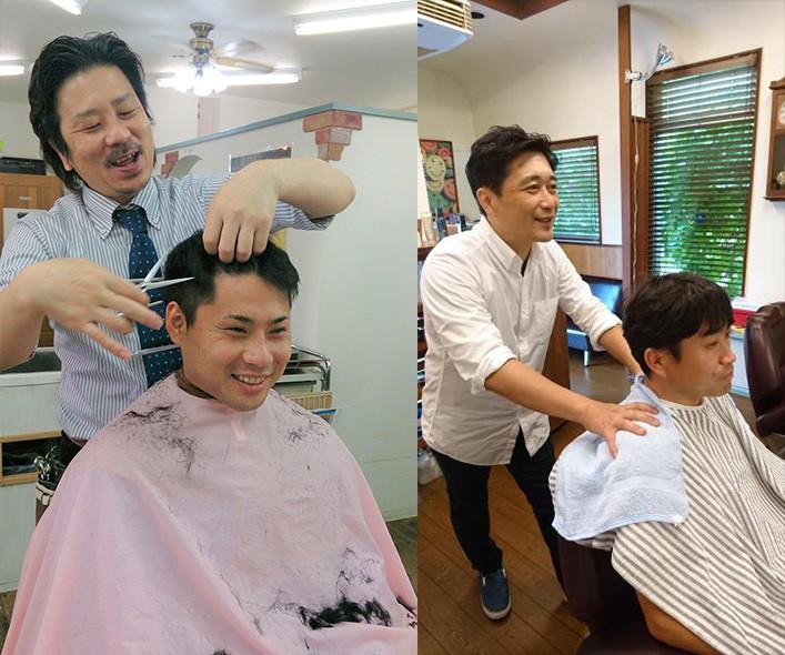 улыбающиеся парикмахеры японии