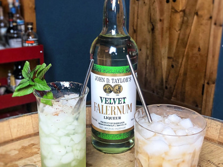 This is beautiful! What is that? Velvet Falernum?
