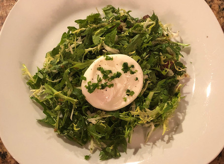 Legal poaching with bacon and frisée