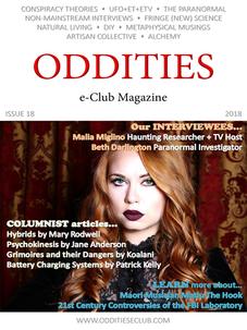 Oddities E-Magazine makes Malia Miglino cover girl and interview