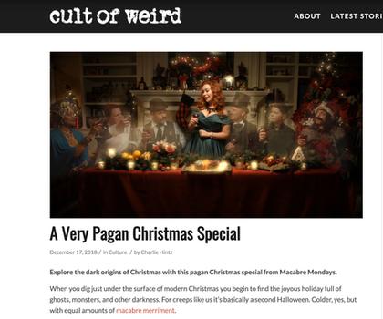 "Cult of Weird feature on ""Macabre Mondays"""