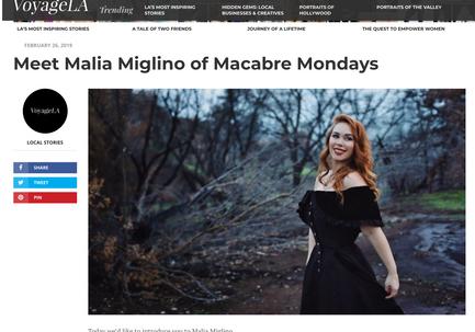 Voyage LA - feature on Malia Miglino