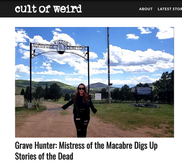 "Cult of Weird feature on ""Grave Hunter"""