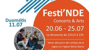 La fête continue avec Duométis ce 11/7 à Festi'NDE !