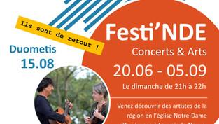Duométis de retour à Festi'NDE ce dimanche 15.08 !