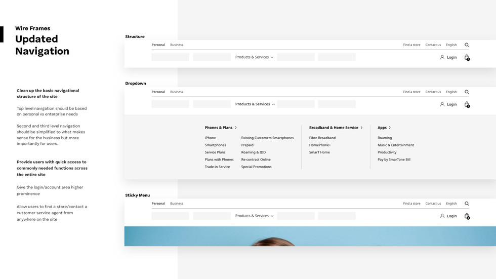 Smartone Sales Site Revamp_Navigation