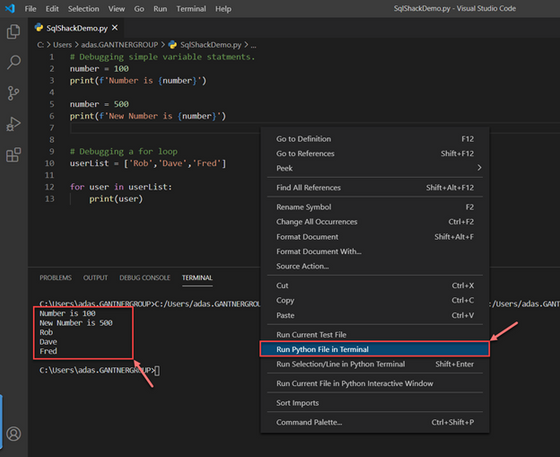 How to debug Python scripts in Visual Studio Code