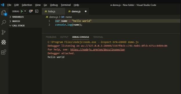 Main steps of running Javascript in VS code