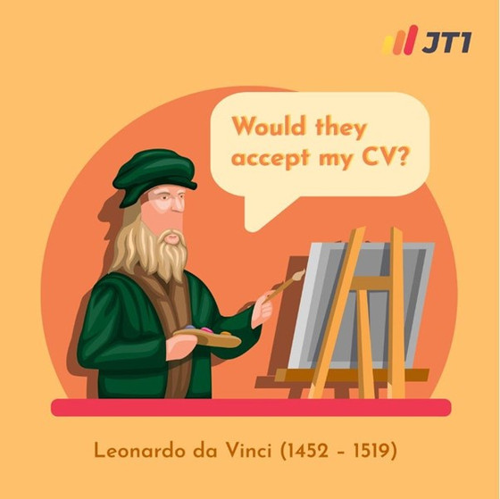 What Does The CV Of Leonardo Da Vinci Look Like?
