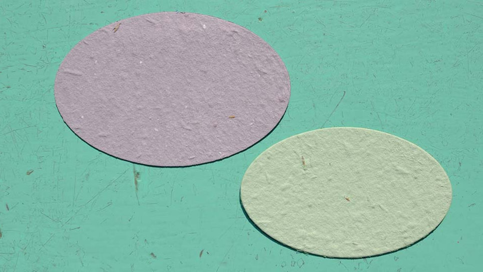 O2S Ovale Piantabile+Stampa di varie misure in Carta che Germoglia
